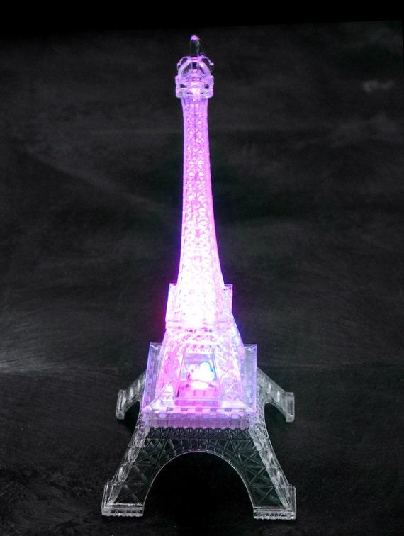 Acrylic Eiffel Tower LED Light 10-Inch