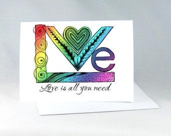 Gay Wedding Card, Gay Anniversary Card, Lesbian Wedding Card, Gay Engagement Card, Romantic Card, Gay Wedding Shower, LGBT Card 1156A