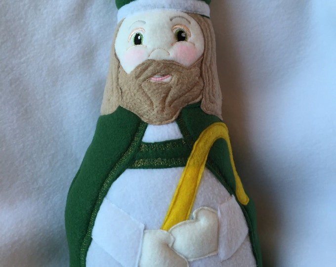 Saint Patrick Soft Saint Doll, Saint Patrick Doll, St Patrick's Day, Soft and Perfect for little ones to Snuggle.