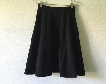 FREE SHIPPING - Vintage 60s Anne KLEIN Black Wool Skirt