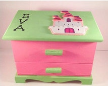 Sparkly customized girls jewelry box pink green personalized glitter jewelry box glitter customized box for girls BPA free non toxic box