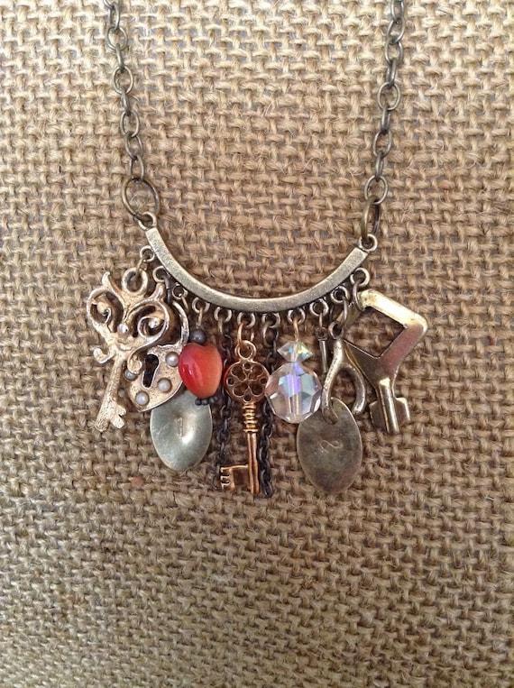 Vintage Repurposed Statement Necklace