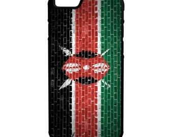 Kenya Flag on Brick Wall iPhone, Galaxy, Note , & LG Hybrid Rubber Protective Case