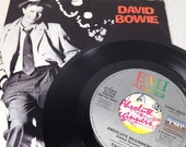"""David Bowie vintage vinyl record - Absolute Beginners 45 rpm PROMO 7"""" OOP 
