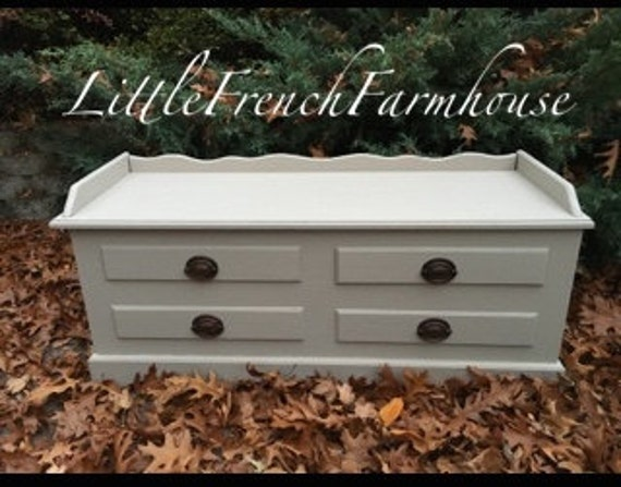 Vintage Cedar Chest Painted To Order Bench Hope Chest End