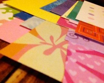 Assotrment of Scrap Paper/Card Stock