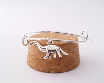 Brontosaurus dinosaur bangle bracelet