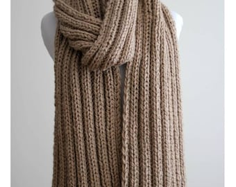 Knit scarf, long knitted scarf, knit shawl, chunky Knit scarf, cozy softness, knit scarves, winter coat accessory, womens fashion