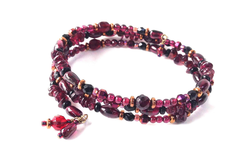 garnet bracelet gemstone jewelry january birthstone