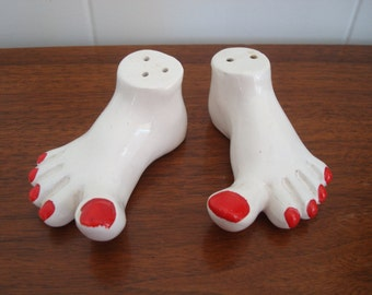 Unique Vintage Feet Salt and Pepper Shakers