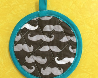 Mustache kid's play pot holder