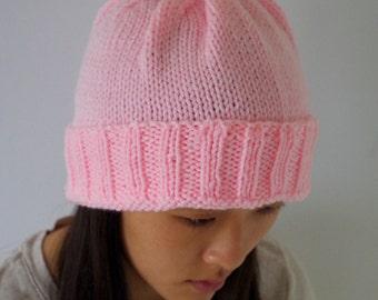 Light Pink Hand-knit Beanie
