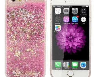 Glitter Bomb Waterfall Hard iPhone 6 case