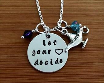 Aladdin inspired necklace-Disney's Aladdin Inspired-Aladdin-Let your heart decide-magic lantern necklace