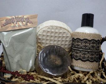 Facial Care Gift Set - Oily Skin-Organic - Natural - Handmade - Skin Care - Detox - Restore - Moisturize
