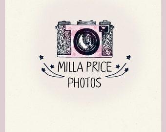 Logo ink photography. Premade Watercolor LOGO.