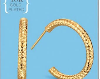 Avon 18K Gold Plated Hoops