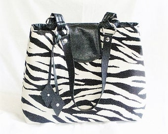 Zebra Handbags, Zebra Purses, Zebra Totes, Animal Print Handbags, Animal Print Purses, J'NING Handbags,