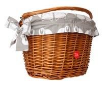 Classic Wicker Bike Basket with liner Fox, Bike Belle