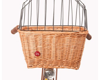 Wicker Bike Basket Bike Belle for a PET