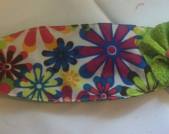Bright Green Flower Headband