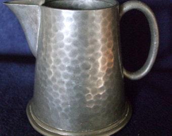 Art Deco Period, English Hammered Pewter Small Jug ,James Dixon Sheffield C1929 175 CC