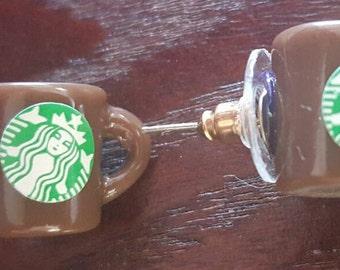 Starbucks Seattle Coffee Mug Earrings