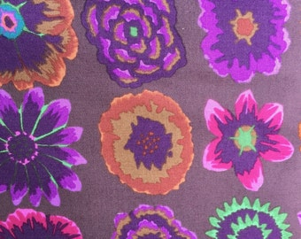 Button Flowers by Kaffe Fassett for Westminster Fabrics in Prune Half Yard