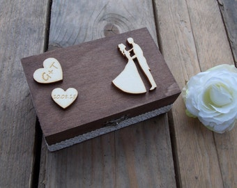 Ring bearer box Couple-Wedding, ring box, bride