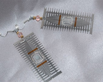 Sci Fi Computer Component Earrings
