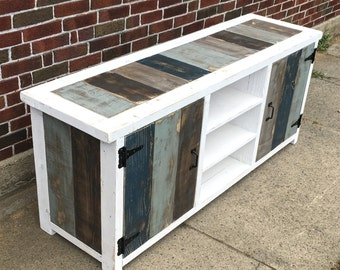 Industrial Modern Reclaimed Wood Entertainment Center