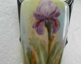 Vintage Czech-hand painted vase