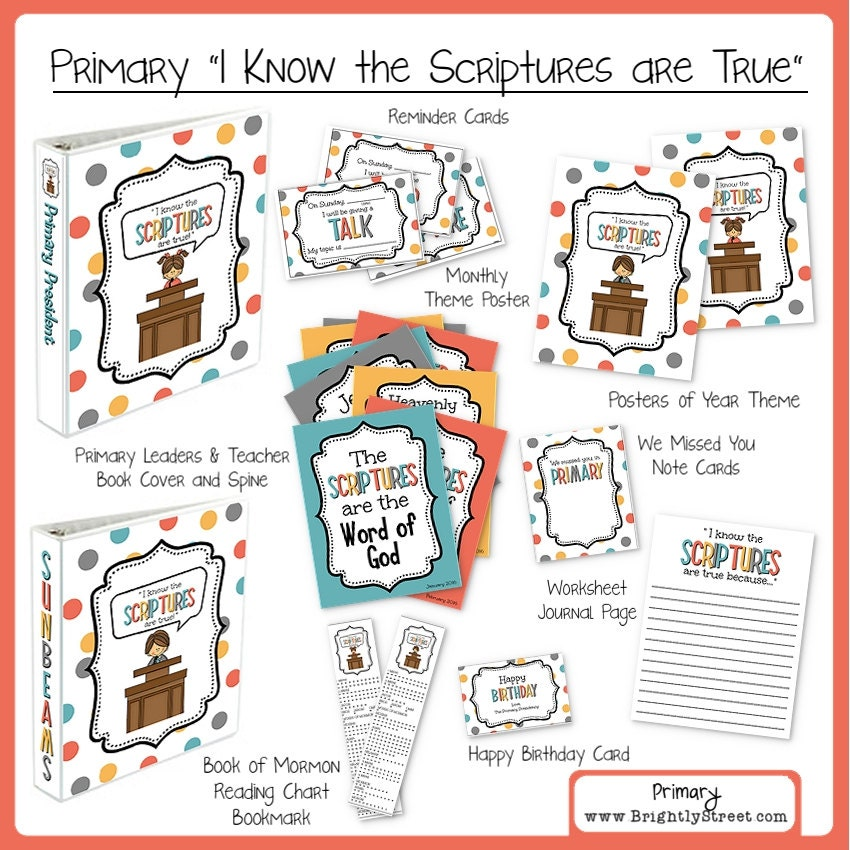 I Know The Scriptures Are True LDS Primary Theme By