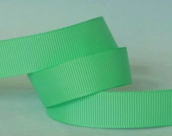 "5 yards Mint Green Grosgrain Ribbon, 4 Widths Available: 1 1/2"", 7/8"", 5/8"", 3/8"""
