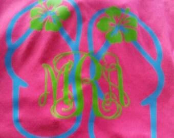 Monogram flip-flop t-shirt