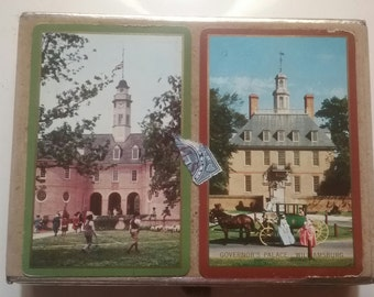 Colonial Williamsburg Vintage Playing Cards With Original Tax Stamp