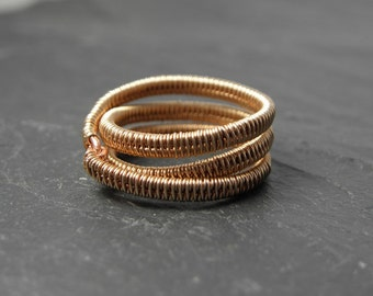Aimil, Woven Ring in bronze.