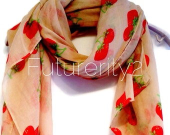 Strawberry Beige Summer Scarf Spring Scarf / Gift For Her