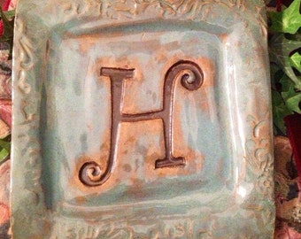 Pottery Initial Plate