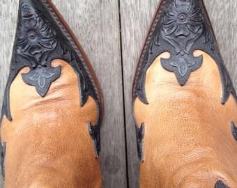 JB Dillon short cowboy boots Size 7.5 B or EU 38 to EU 38.5