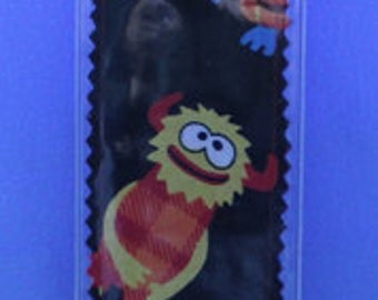 Little Monsters Fabric Bookmark With Vinyl Cover