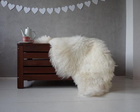 Regular SHEEPSKIN 48 X 28 White Fur Rug Throw