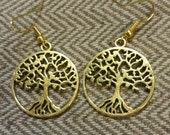 Gold-plated Tree of Life Earrings