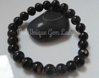 Wooden Bead 8mm Round Beaded Stretch Bracelet