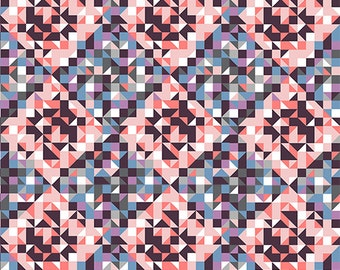 Quilted Diamonds in KNIT, Modern Reflection Collection, BOLT by Girl Charlee, Made in USA, Cotton Jersey Knit Fabric 5631