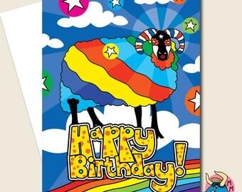 Sheep Card, Birthday Card, Greeting Card, Fun Card, Card For Him, Card For Her, Boyfriend Card, Girlfriend Card, Husband Card, Wife Card