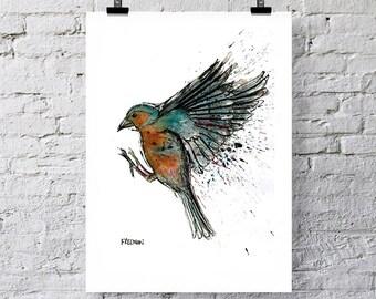 Chaffinch Greetings card / Art print