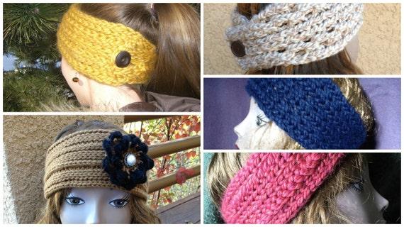 Ear Warmers eBook - 5 unique loom knit patterns