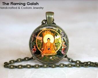 BUDDHA Pendant • Sitting Buddha • Orange Buddha • Gift for a Buddhist • Shining Buddha • Gift Under 20 • Made in Australia (P1163)