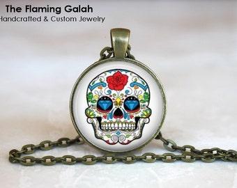SUGAR SKULL Pendant • Colourful Skull • Día de Muertos • Mexican Skull • Calavera • Gift Under 20 • Made in Australia (P0567)